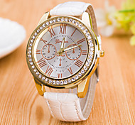 Women's  Fashion Rome Digital Double Surface PU Quartz Watch(Assorted Colors) Cool Watches Unique Watches