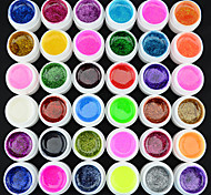 40218 GDCOCO 36 Pcs Glitter Color Nail Art Paint Color UV gel,5ML Shimmer Glitter UV Gel