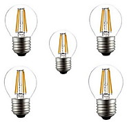 5pcs  G45 4W E27 400LM 360 Degree Warm/Cool White Color Edison Filament Light LED Filament Lamp (AC220V)