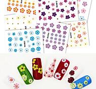 8PCS Simulation Flower Nail Stickers