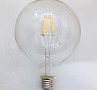 1 pieza kwb E26/E27 7W / 8W 8 COB 750 lm Blanco Cálido G125 edison Cosecha Bombillas de Filamento LED AC 100-240 V