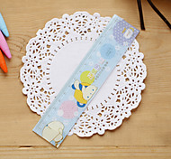 1PC Cute Cartoon Plastic Ruler Student A Ruler Candy Color Office Stationery(Style random)
