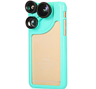 PC Silicone Material Back Cover with Fish-Eye/Wide-Angle Lens for Iphone 6