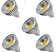 5pcs  5W MR16 400LM Warm/Cool White Light LED COB Spot Lights(12V)