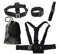 Chest Belt+WiFi Remote Wrist Belt+Head Strap Mount+Helmet Strap+Bag for Gopro Black Edition