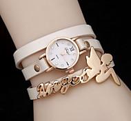 Women's Three Circle Winding Angel Doll Quartz WatchWomen Alloy Diamond Fashion Watch Cool Watches Unique Watches