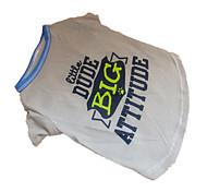 Perros Camiseta Gris Ropa para Perro Verano Letra y Número Moda