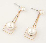 Drop Earrings Pearl Imitation Pearl Alloy Imitation Pearl Fashion Golden Jewelry Party Daily Casual 1 pair