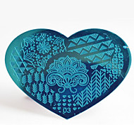 BlueZOO Metal 03 Nail Art Stamping