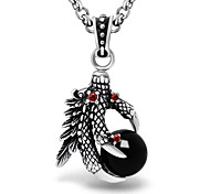 Titanium Steel Antique Silver Talons of A Falcon Pendant(No Chain) Christmas Gifts