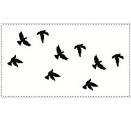Fashion Temporary Tattoos Swallows Sexy Body Art Waterproof Tattoo Stickers 5PCS (Size: 2.36'' by 4.13'')
