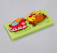 Cake Tools Christmas Reindeer Sleigh Fondant Silicone Mold for Cake Decorating Cupcake Candy Chocolate Soap Clay Fimo