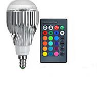 E14 85V-265V 600-800Lm 10W RGB Remote Control LED Colorful Bulbs