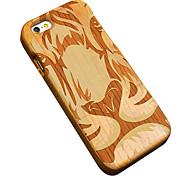 ciliegio in legno tigre faccia scultura protettiva copertura posteriore iphone caso duro per il iphone se 5s / iPhone / iPhone 5