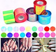1roll 5cm * 100m vidrios rotos del arte del clavo de papel brillante lámina holográfica láser herramientas de la decoración de la etiqueta