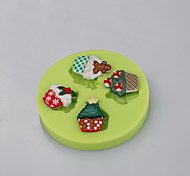 Cake Tools Mini Cupcake Christmas Silicone Mold for Cake Decorating Cupcake Candy Chocolate Soap Clay Fimo Resin