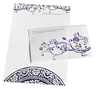 The blue and white porcelain envelope package (3 envelope +6 paper, random pattern)