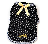Dog Shirt / T-Shirt / Clothes/Clothing Black / Pink Summer Bowknot