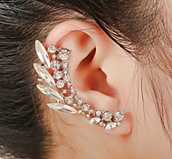 Unisex Fashion Gold/Silver Rhineston Stud Ear Cuffs Earrings Jewelry(1PC)