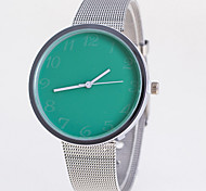 Women's Casual Fashion Silver Band Quartz Watch Alloy Wrist Watch