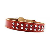 Dog Collar Waterproof / Adjustable/Retractable Brown Genuine Leather