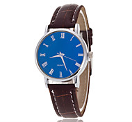 Men's Luxury Leather Band Black Blue Case Military Sports Style Watch Jewelry Wrist Watch Cool Watch Unique Watch