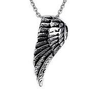 Men's Fashion Punk Style Wing Titanium Pendant for Necklace