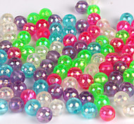 Anmuka 100 pcs Lure Packs Green / White / Purple / Red / Blue Hard Plastic Ball Stoppers Beans Fishing Accessories