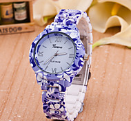 Women's New European Style Fashion Printing Flower Wrist Watch