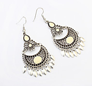 Drop Earrings Alloy Tassels Vintage Fashion White Black Dark Blue Red Blue Jewelry Party Daily Casual 1 pair