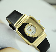 Women's European Style Fashion Square Quicksand Wrist Watch