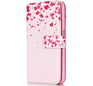 PU Leather Embossed Love Heart Wallet Case with 9 Card Slots for iPhone 6s 6 Plus