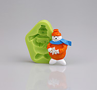 Cake Decorating Tools Snowman Christmas Fonddant Silicone Mold for Cupcake Candy Chocolate Soap Clay Fimo Resin
