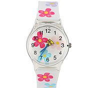 Europe And The United States Fashion Plastic Rotation Small Seconds Girls Watch