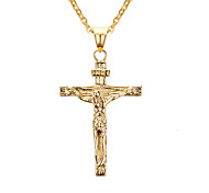 Men's Women's Pendant Necklaces Pendants Stainless Steel Cross Cross Classic Gold Jewelry Daily Casual 1pc