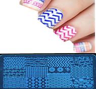 1шт 12 * 6см искусства ногтя штамповка пластина красочный дизайн изображения инструменты красивый цветок ногтей ху-p01-08