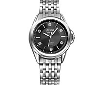 Men's Fashionable Stainless Steel Quartz Watch with Diamonds Wrist Watch Cool Watch Unique Watch