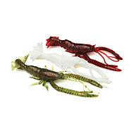 """3 pc Gamberi / Gamberetto Verde / Bianco / Rosso 6.1 g/1/4 Oncia,105 mm/4-1/4"""" pollice,SiliconePesca di mare / Pesca a jigging / Pesca di"""