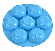 Random Color 1PCS Smile Face Shape Silicone Mold for Jelly, Chocolate, Soap DIY Bakeware