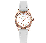 Julius®  Women Watch Korea Fashion Rhinestone Leather Belt Wristwatch Waterproof Quartz Schoolgirl Watch JA-730