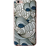 cas tpu souple avec motif d'impression 3d 6s iphone 6 / iphone / 6s iphone 6 plus en plus / iphone pulvérisation