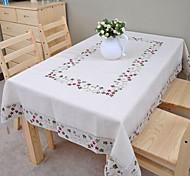 bordado de linho toalha de algodão toalha de mesa toalha de mesa 140x200cm clássica (56 * 80inch)