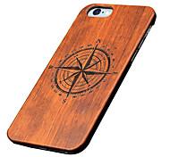 caso ultra sottile di legno piccola bussola protettiva copertura posteriore iphone dura del PC per iPhone se 5s / iPhone / iPhone 5