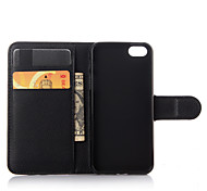 For iPhone 7 Plus Luxury Genuine Leather Wallet Case for iPhone 5/5S/SE
