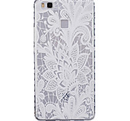 White Rose Pattern PU Material Phone Case for Huawei P9 Lite/P9