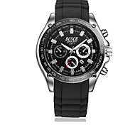 Men's Wrist watch Quartz Casual Watch Rubber Band Black