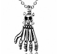 Men's Fashion Punk Style Skull Hand Pendant for Necklace