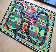 "Casual Style Coral Velvet Material Mini Autodrome Puzzle Games Mat for Children W31"" x L47"""