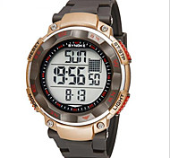 Men's LCD Digital Alarm Stopwatch Rubber Sports Watch Cool Watch Unique Watch