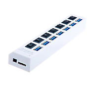 USB 3.0 7 Ports/Interface USB Hub with Separate Switch 19*34*1.5